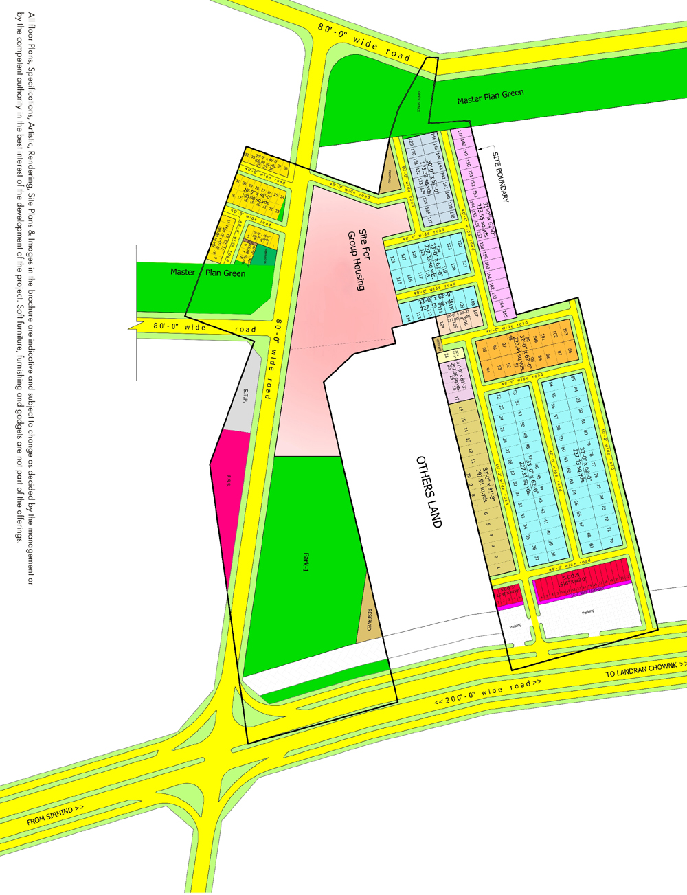 bollywood floors mohali siteplan