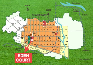 location map of acme eden court sector 91 mohali