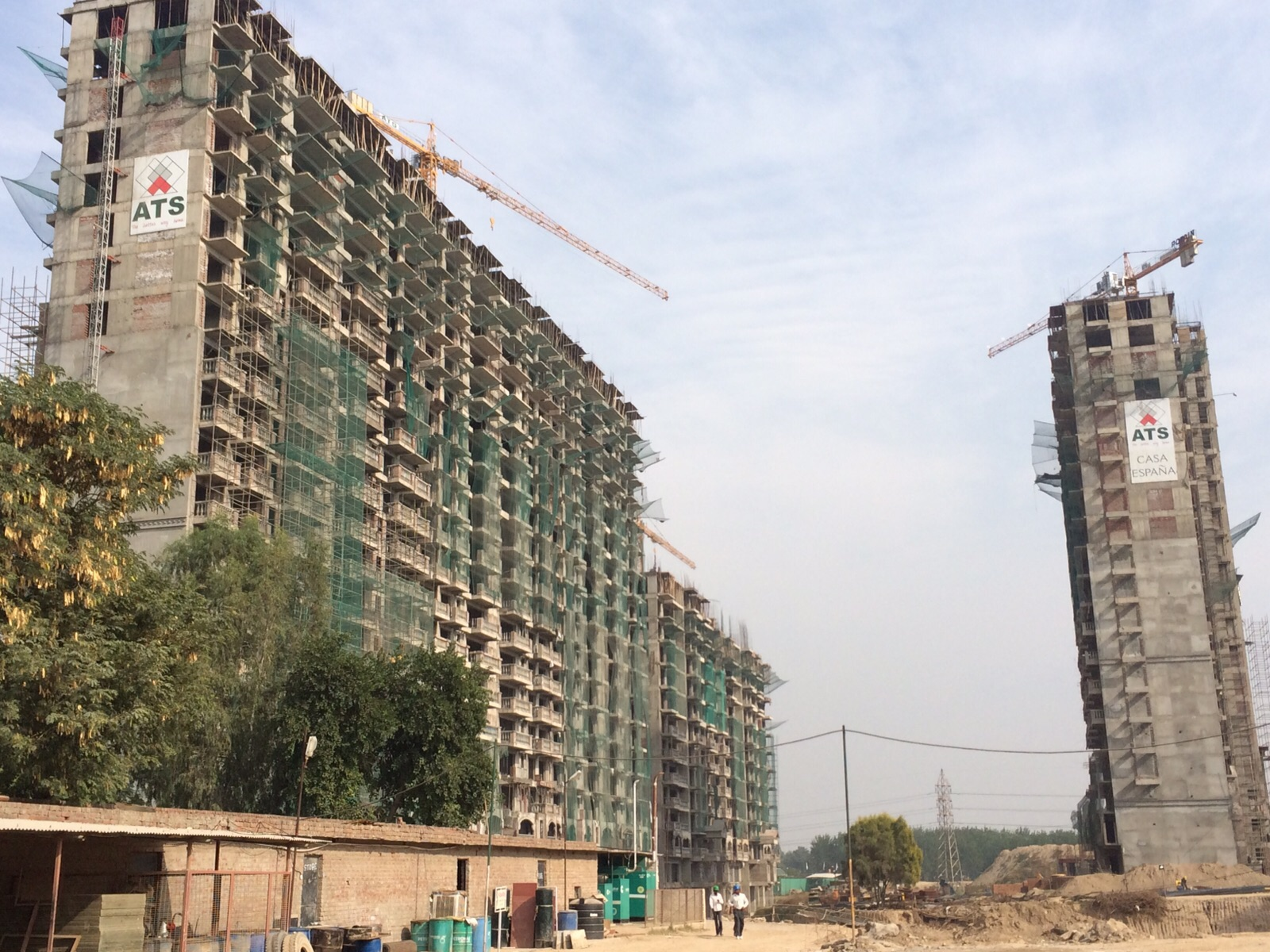 construction status of ats casa espana mohali chandigarh flats projects