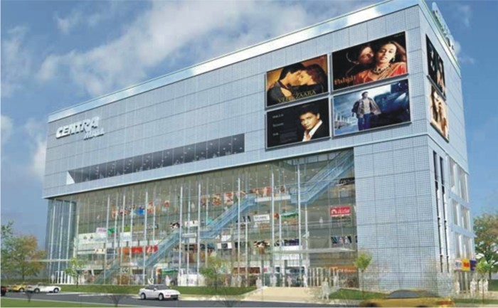 3d view of uppals centra mall chandigarh