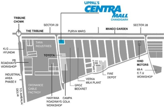 location plan of centra mall