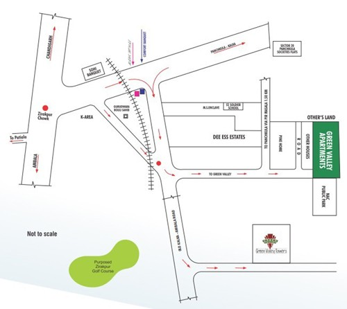 location map of green valley towers gazipur