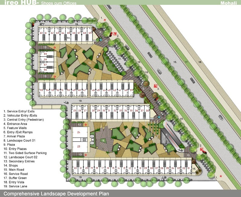 site layout plan of ireo hub showrooms sector 98 mohali