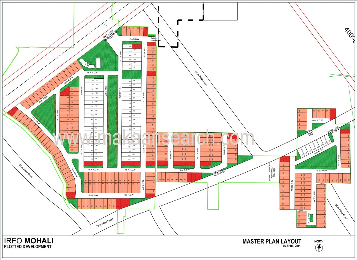 site layout plan of ireo flats in mohali