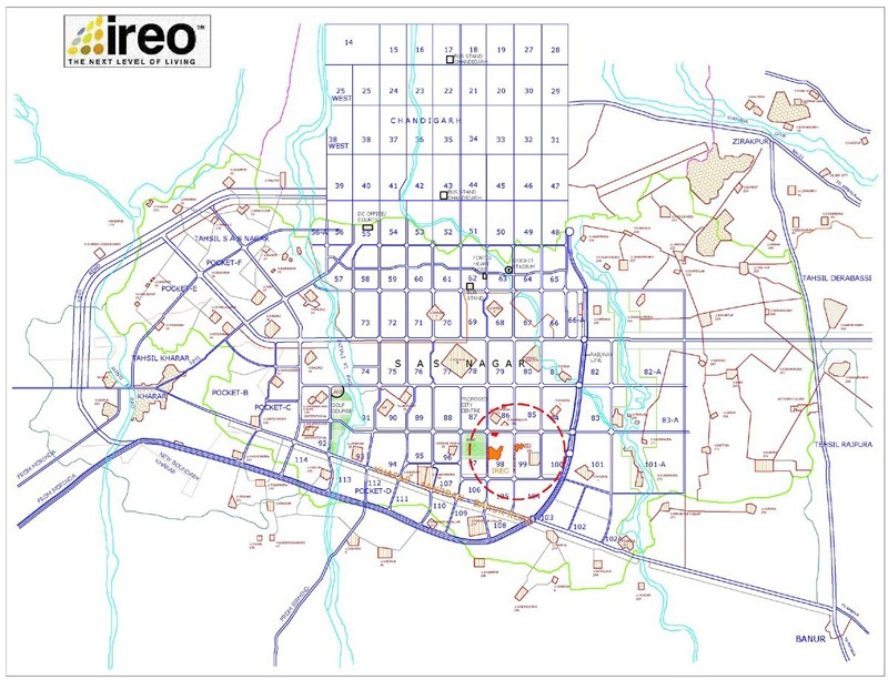 ireo mohali location map