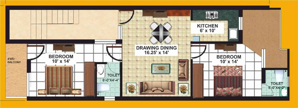 floor plan of kiran apartments vip road zirakpur