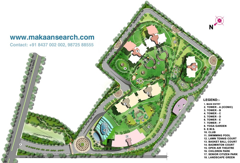 siteplan of spangle opulencia sector 110 mohali