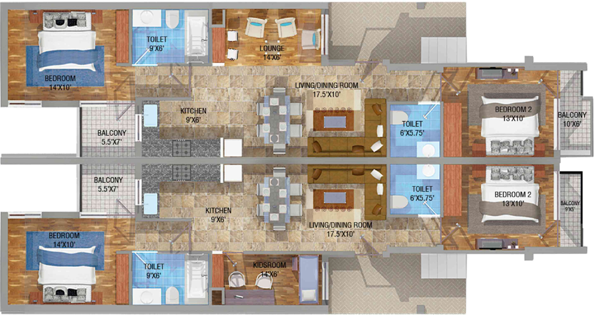 floor plan of vip floors vip road zirakpur