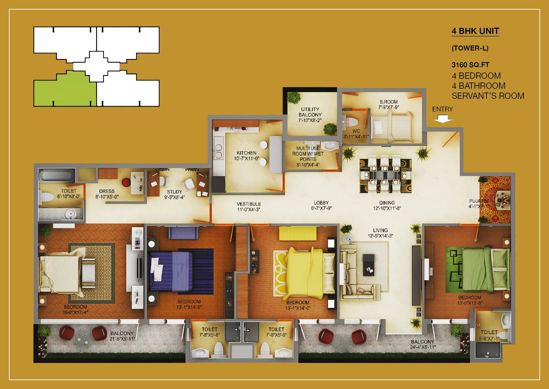 wave estate mohali flats layout plan