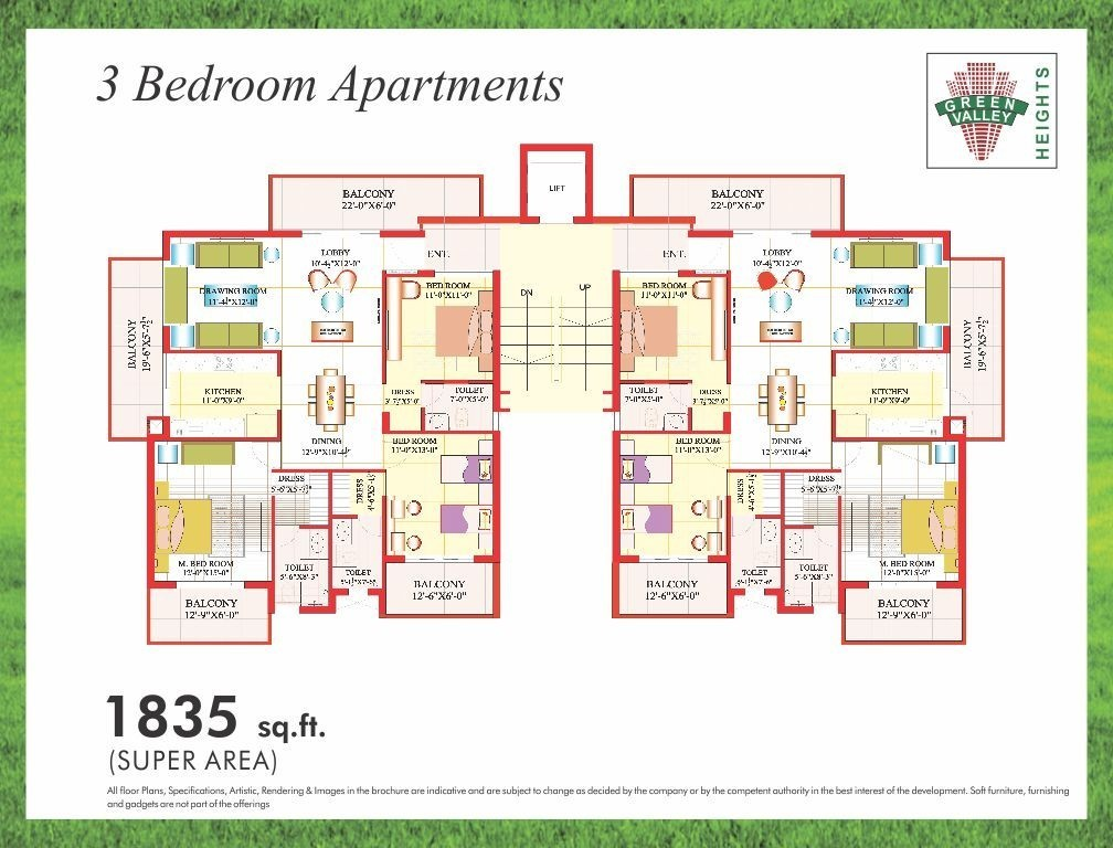 Green Valley Heights Zirakpur Value For Money Flats Near